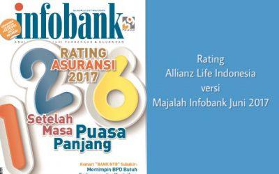 Rating Allianz versi Majalah Infobank Juni 2017