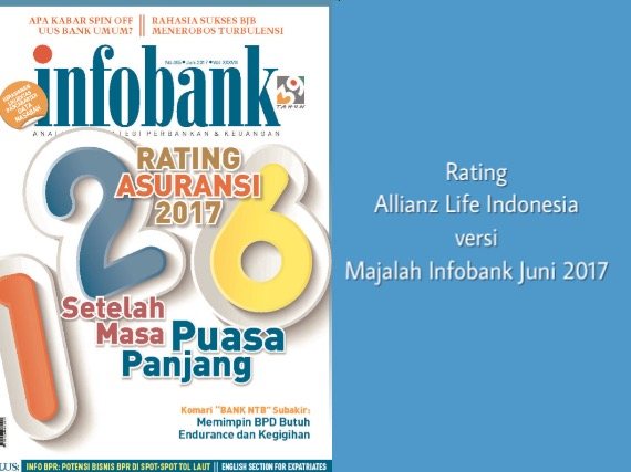 Rating Allianz versi Majalah Infobank Juni 2017